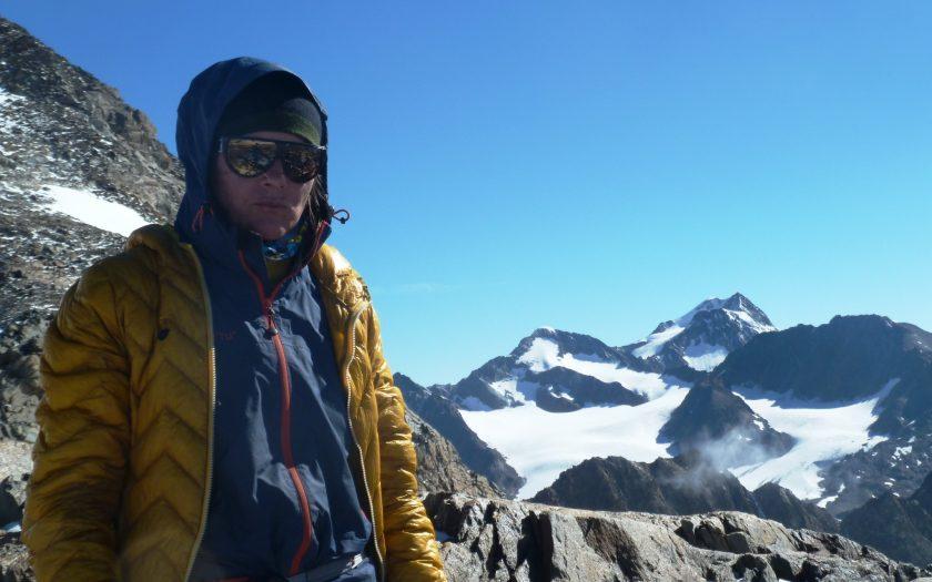 Bergführerin Theresa bei der Arbeit