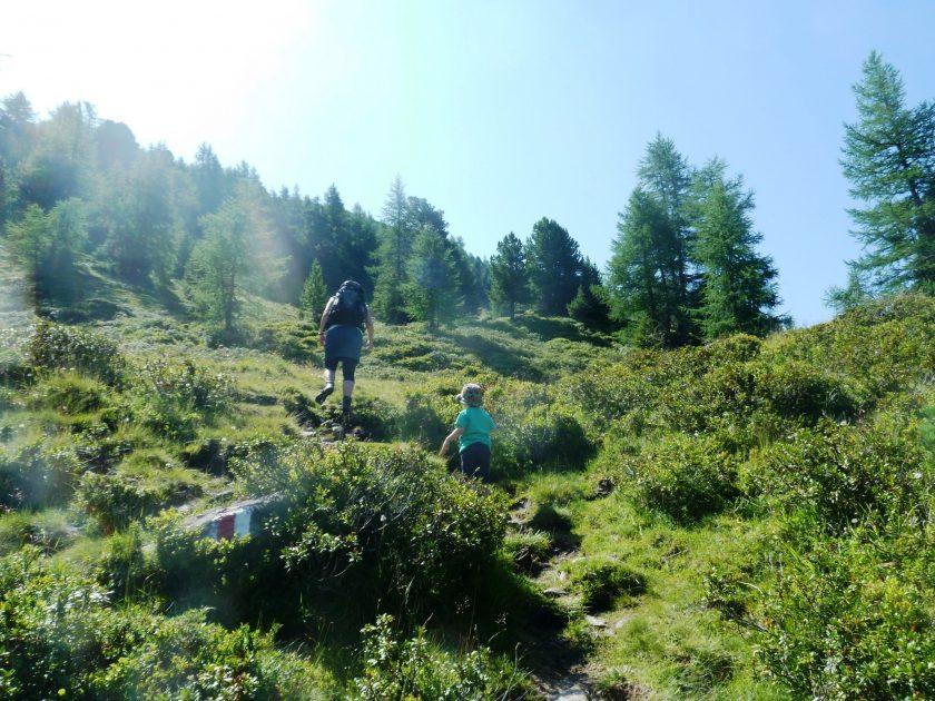Wanderung mit Familie
